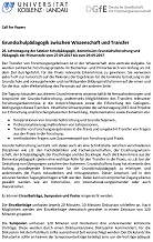 Download der Druckversion des 2.Call for Papers vom 23.02.2017